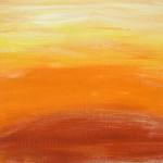 Sunrise: acrylic on canvas