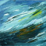 The wave: acrylic on canvas